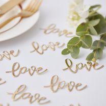 Tafel confetti Love goud
