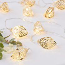 Lichtslinger gouden blaadjes LED