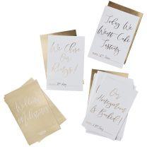 Milestone bruiloft kaarten Goud