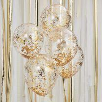 Gouden confetti ballonnen