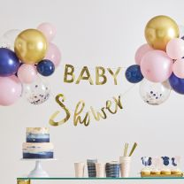 Babyshower slinger met ballonnen Gender Reveal
