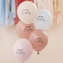 Happy Everything Ballonnen krijt pastel tinten