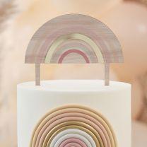 Taarttopper regenboog hout en acryl