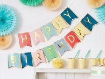 Happy Birthday Slinger Multi  Goud