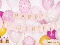 Happy Birthday Slinger Lichtroze Goud
