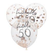 Confetti ballonnen 50 jaar Sarah jubileum