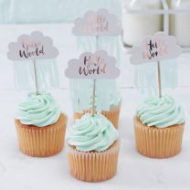 Cupcake Topper Hello World