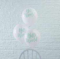 Hello World Ballonnen 5 st.