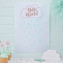 Hello World Babyshower Gastenboek fingerprint