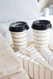Coffee Cup gouden streep/10pk
