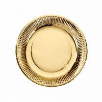 Gouden bordjes modern metallics