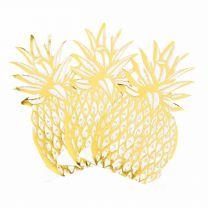 Ananas servetten goud folie