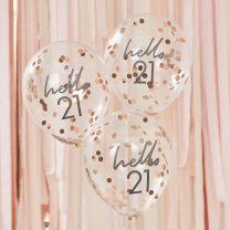 Confetti ballonnen Hello 21