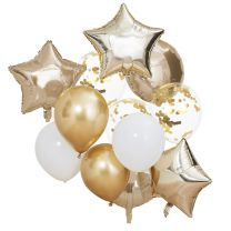 Ballonnen mix Goud Metallic