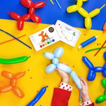 Modelleerballonnen Rainbow met pomp
