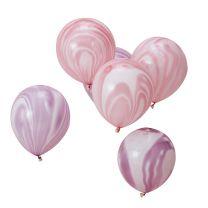 roze en paarse marmerballonnen We Wish Ginger Ray
