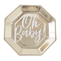 Babyshower bordjes Oh Baby!
