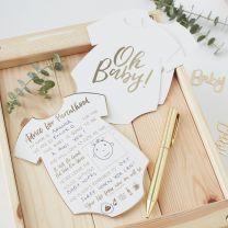 Oh Baby! Babyshower advieskaarten