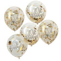 Oh Baby! Goud confetti ballonnen