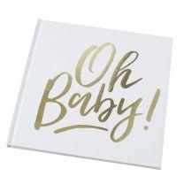 Oh Baby! Babyshower gastenboek goud