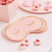 Slaapmasker servetten roze