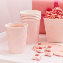 Roze bekertjes Slaapfeestje
