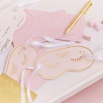 Uitnodigingskaarten Oogmasker Roze