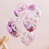 Roze Glitter Ballonnen Pamper Party