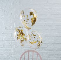 Confetti Ballonnen Goud Folie
