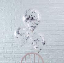 Confetti Ballonnen Zilver Folie