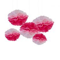 Pompoms Roze ombre 5 pack