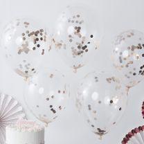 Confetti Ballonnen Rosé Goud Folie