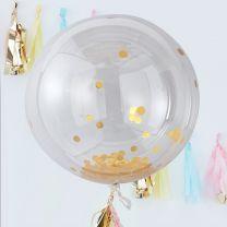Mega Orb confetti Ballonnen goud (3 stuks)