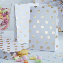 Party bags wit met gouden stip