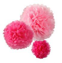 Pompoms pink mix