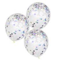 Confetti ballonnen iriserend folie
