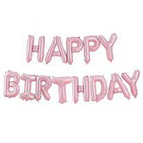 Mat roze letter folieballon Happy Birthday Ginger Ray Pastel Party