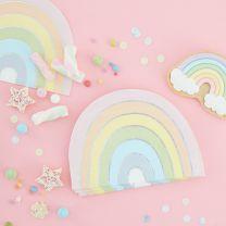 Regenboog Servetten Pastel Party