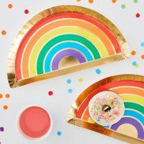 Regenboog bordjes Over the Rainbow
