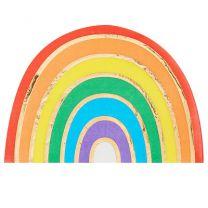 Pastel regenboog servetten iriserend Ginger Ray Pastel Party