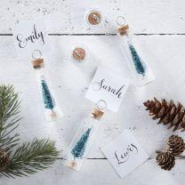 Kerstboom in flesje plaatskaartjes