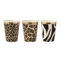 Safari animal print servetten met gouden schulprandje