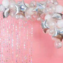 Zilveren ballonnenboog Gingerray