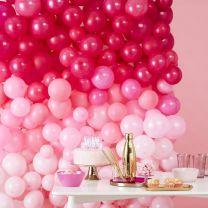 Ballonnenmuur Roze Ombre