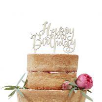Taarttopper Happy Birthday Boho