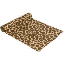 Tafelloper velvet giraffe print
