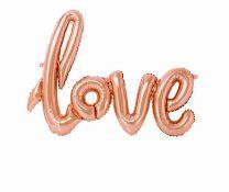 Love ballon rose goud