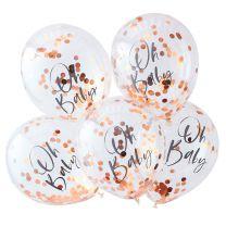 Oh Baby confetti ballonnen rose goud Twinkle Twinkle