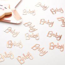 Tafel confetti Baby rose goud