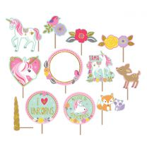 Unicorn Backdrop met foto props